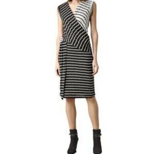 Brand New All Saints Adria Stripe Dress- XS